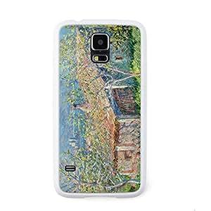 CaseCityLiu - Antibes Gardener's House Claude Monet Oil Painting Design White Bumper Plastic+TPU Case Cover for Samsung Galaxy S5