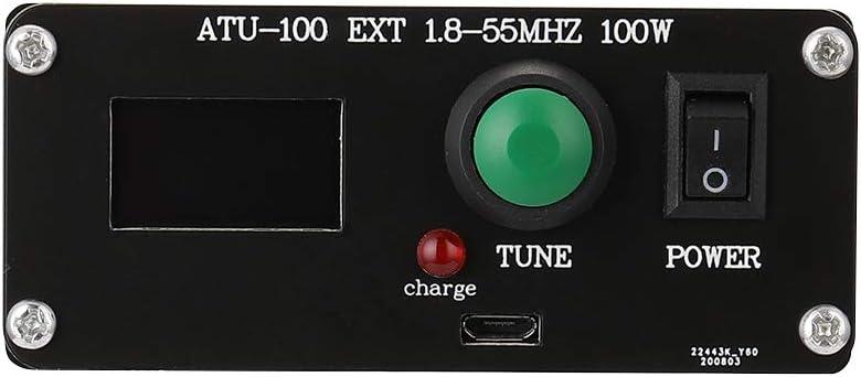 ATU-100 EXT 1.8-55MHz 100W Sintonizador de antena autom/ático de onda corta de c/ódigo abierto con carcasa de metal ensamblada