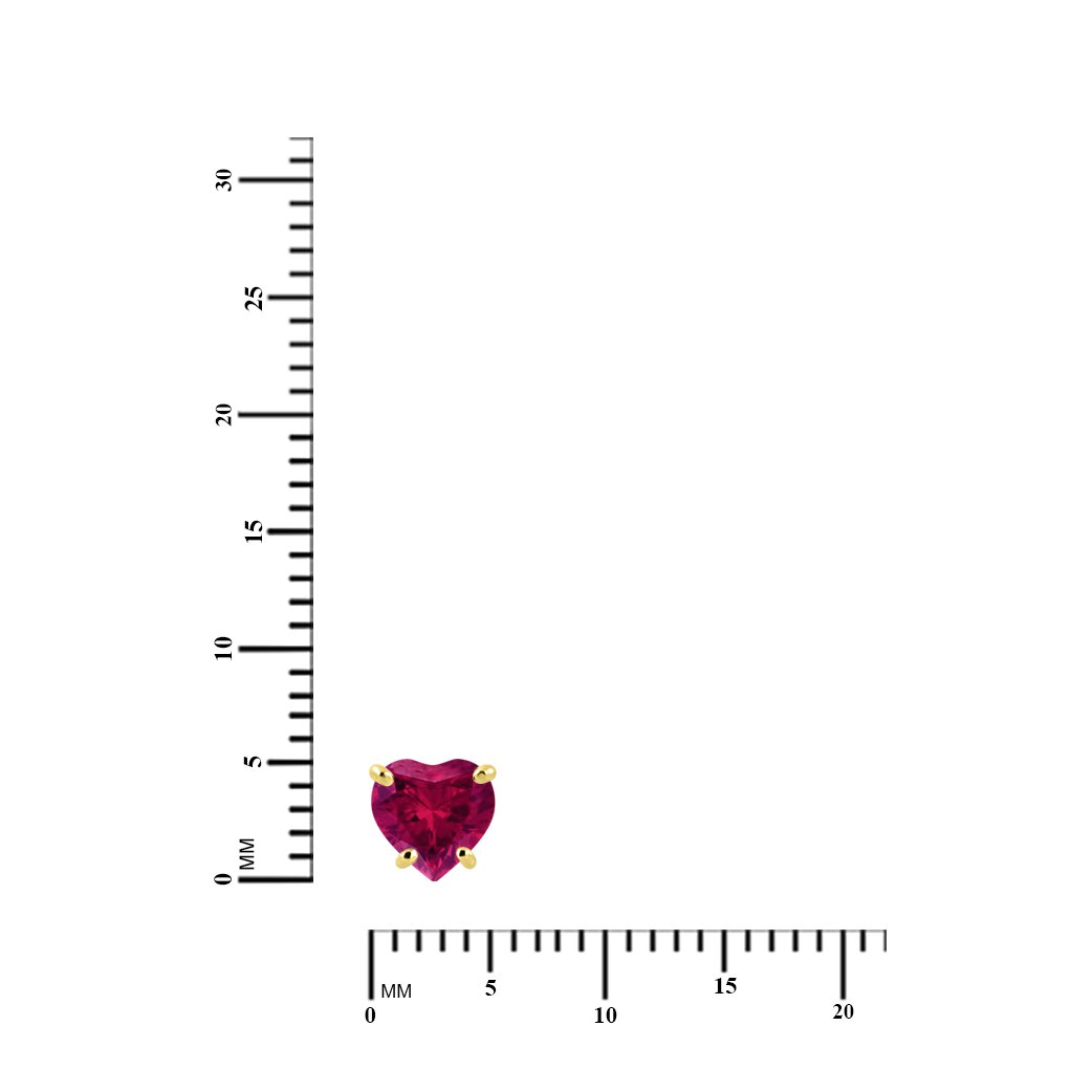 14k White Gold Plated Over Birthstone Heart Screw Back Stud Earrings For Women Girls Silver Dew 5mm 14k Yellow Gold Plated