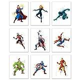 Superhero Avengers Infinity War Watercolor Poster