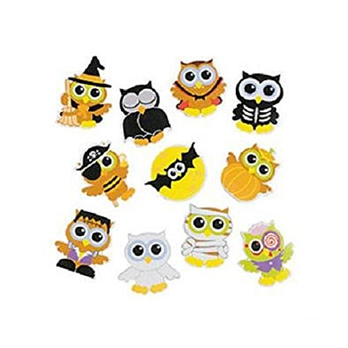 100 ~ Halloween Owls Foam Stickers / Self-adhesive Shapes ~ Approx. 1.25 - 1.5