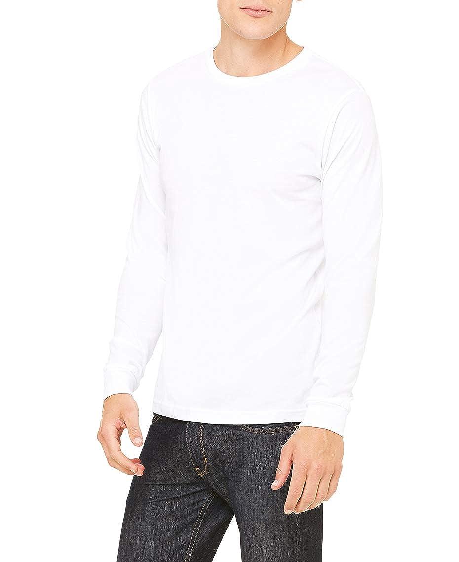 Bella Mens 2 Pack Jersey Long Sleeve Tee White