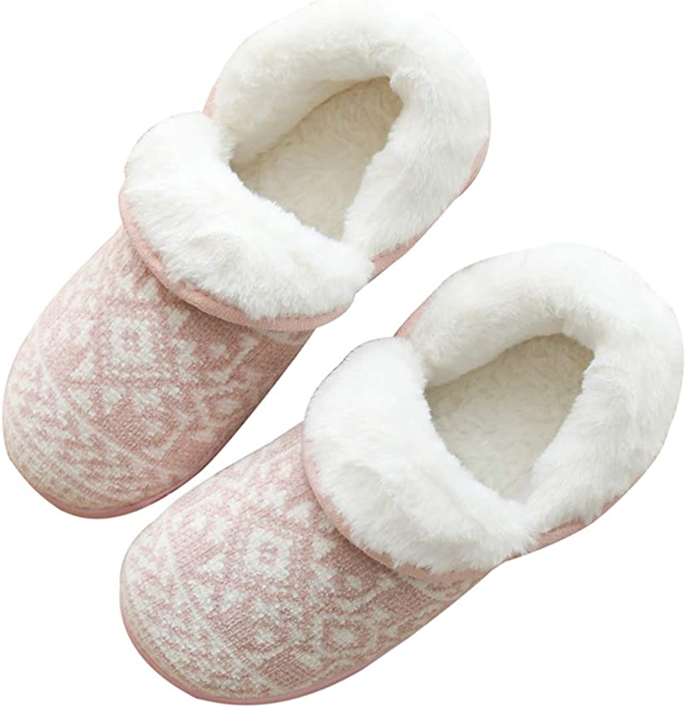 AGOWOO Youth Big Kid Cute Fur Thermal Fuzzy House Slippers for Girl