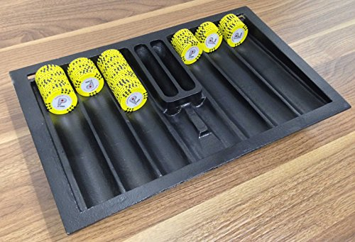 Professional 8 Tube Aluminum Poker Chip Tray with out lid by Tuff LED Lights