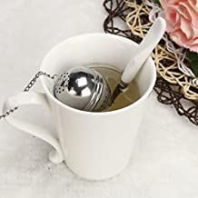GBSELL Stainless Steel Ball Loose Tea Leaf Strainer Herbal Spice Filter Diffuser