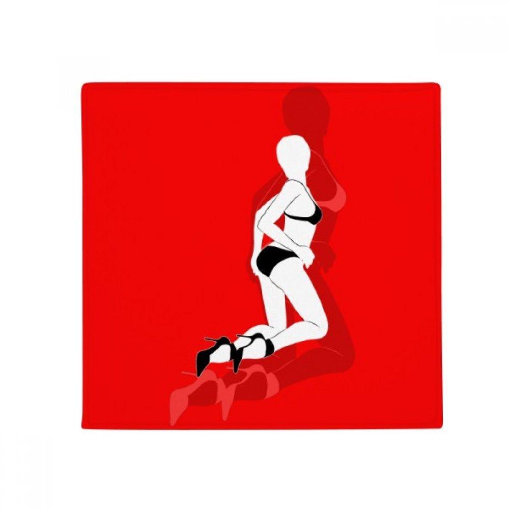 DIYthinker Red Bikini Beauty Woman Anti-Slip Floor Pet Mat Square Home Kitchen Door 80Cm Gift
