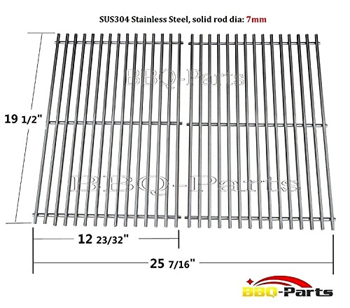 Hongso SCG528 (Aftermarket) BBQ Barbecue Replacement Stainless Steel Cooking Grill Grid Grate for Weber Genesis E and S series gas grills, Lowes Model Grills