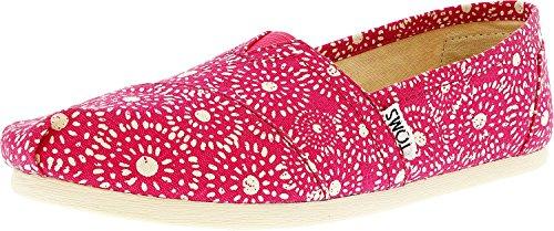 (TOMS Women's Seasonal Classics Fuchsia Shibori Dots Loafer )