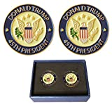 Donald Trump 45th President Lapel Pin Hat Tac - Trump Pin, Gift Box - Pack of 2 Pins Memorial Day White House Election