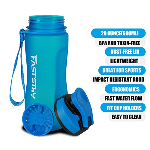(FASTSTHY Water Bottle by 20oz for Gym for Outdoor)
