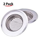 NHSunray 2pcs Stainless Steel Kitchen Sink Strainer with Silicone Cover Removable Heavy-Duty Drain