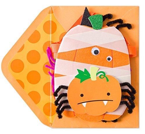 PAPYRUS HALLOWEEN CARD Felt Pumpkins Decorative Banner