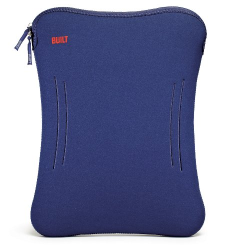 BUILT 17-Inch Wide Neoprene Laptop Sleeve, Navy Blue