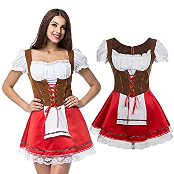 EDTara Moda mujer correa delantera Oktoberfest estilo ...
