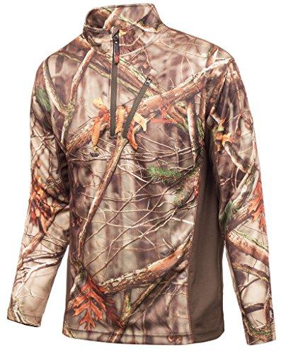 Huntworth Men's Light Weight 1/4 Zip Shirt, Oak Tree EVO ,XX-Large