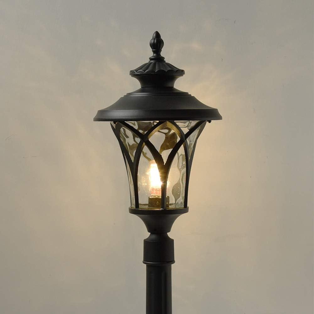 Pumnple Garden Light Landscape Street Light Outdoor Glass Lantern With Die Cast Aluminum Post Pillar Fence Lamp Ip45 Waterproof Lawn Park Villa Decoration Lighting Fixture Size Height 1 1m Amazon Co Uk Kitchen