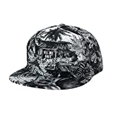 WITHMOONS Summer Palm Tree Pattern Baseball Cap Snapback Hat CR2753 (Black)