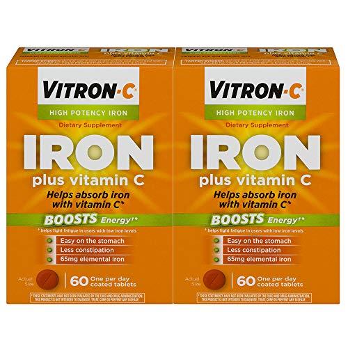 Vitron C High Potency Iron Supplement With Vitamin C 60