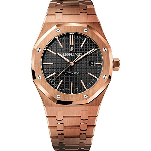 Audemars-Piguet-Royal-Oak-Automatic-Black-Dial-18kt-Rose-Gold-Bracelet-Mens-Watch-15400OROO1220OR01
