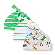 The Children's Place Baby Boys Hats (Pack of 3), White, 0-6MONTHS