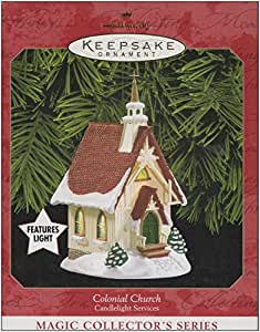 1999 Hallmark Ornament Colonial Church # 2 Series Light Feature