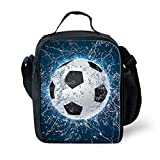 FOR U DESIGNS Water Soccer Printed Insulted Kids Lunch Bags Fun Thermal Lunchbox Food Storage Box for School Pinic Work