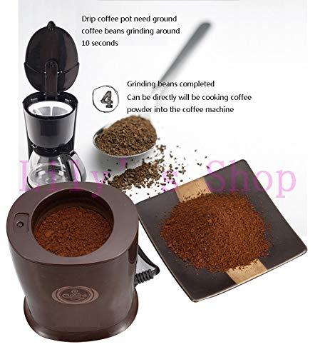 JIQI Household Electric Coffee Grinders Herbs Bean MINI Grain Shredder Mill Grinding Powder Machine Pulverizer by JIQI (Image #4)