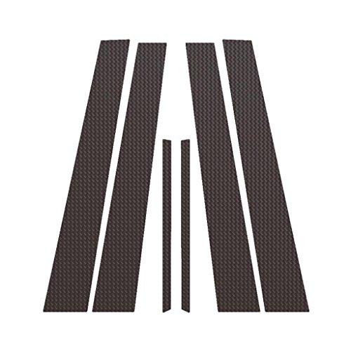 Carbon Fiber Pillar Post Trim Cover fits: 2007-2012 Nissan Sentra All Models - Ferreus Industries - PIL-122-CF (Carbon Fiber B Pillar Covers)