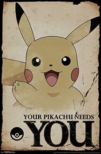 Trends International Pokémon-Needs Mount Bundle Wall Poster 22.375
