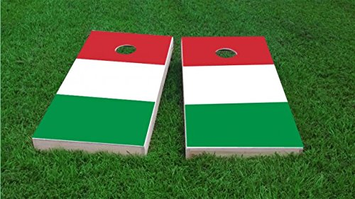 Italy National Flag Cornhole Set, 1x4 Frame (25% Lighter) by Tailgate Pro's