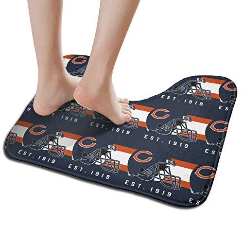 - Jacoci Custom Chicago Bears Toilet Doormat Non Slip Floor Door Mat Bath Rug for Bathroom Decor Standard Size 19.3 x 15.7 Inches