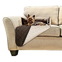 Fur Haven 49201011 Sofa Buddy Pet Bed Furniture Cover, Small, Espresso/Clay