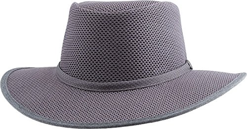 Head 'N Home Handmade Hats - SolAir Brand Cabana Steel (Gunsmoke) Breathable Mesh Sun Hat - Size Small by Head 'N Home