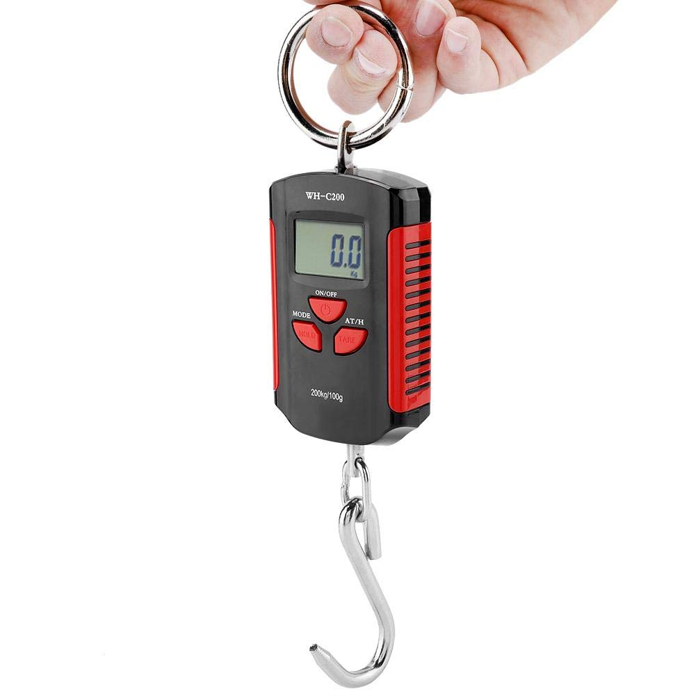 #2 idalinya 200kg Mini Crane Scale Portable Industrial Hanging Digital Scal Electronic Weighing Balance Scales Heavy Duty Weigh Multifunction Professional Accurate Reloading Spring Sensor