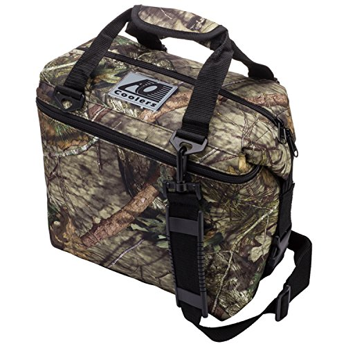 AO Coolers Canvas Soft Cooler with High-Density Insulation, Mossy Oak, 12-Can