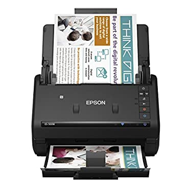 Epson WorkForce ES-500W Wireless Color Duplex Document Scanner for PC and Mac, Auto Document Feeder