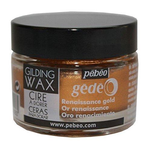 Pebeo Gedeo Gilding Paper Craft Wax 30ml Tub Pot - Renaissance Gold ()