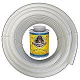 """HYDROMAXX (3/4"""" Dia. x 25 ft) White Flexible PVC"""