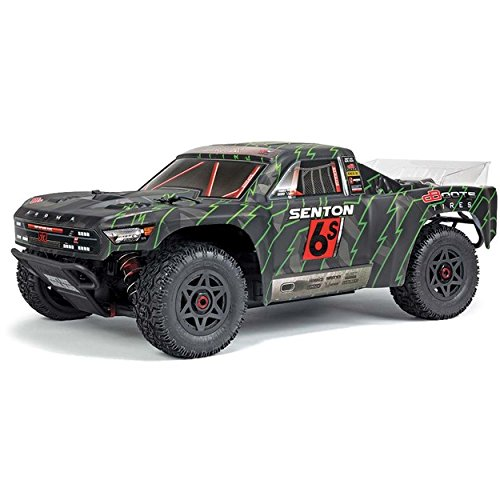 ARRMA SENTON 6S BLX Brushless 4WD Super Duty RC Short Course Truck RTR with 2.4GHz Radio | 1:10 Scale (Black/Green)