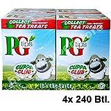 PG Tips 4x 240 Teabags - Schwarzer Tee im Pyramid® Teebeutel