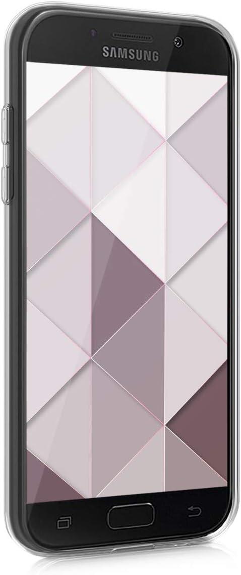 Carcasa de TPU para m/óvil y dise/ño de m/ármol y Oro en Oro Rosa//Blanco//Rosa Palo 2017 kwmobile Funda para Samsung Galaxy A5