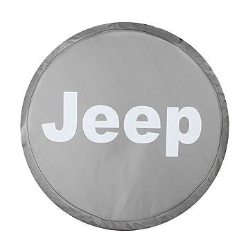 moonet Rueda de repuesto Tire Funda para Jeep Gris