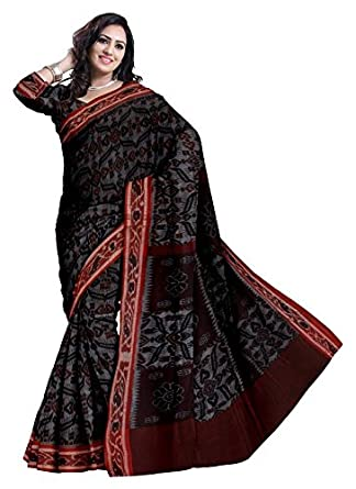 7fef91750714c1 Glitters Women's Ikat Handloom Cotton Pochampally Without Blouse Piece Saree  (Eglsa90C954_Grey): Amazon.in: Clothing & Accessories