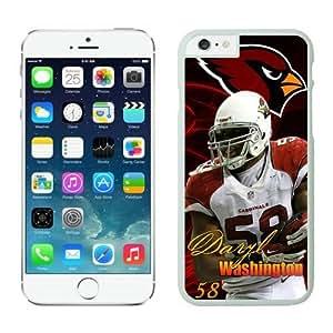 NFL Arizona Cardinals Daryl Washington Case Cover For Apple Iphone 5/5S Case Cover For Apple Iphone 5/5S White_53082 NFL Case Cover For Apple Iphone 5/5S 13771