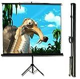 MaxStar Tripod Portable Projection Screen, Diagonal 110'' 4:3 Aspect Ratio (Matte White)