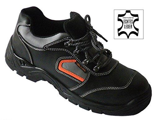 Arbeitsschuhe Sicherheitsschuhe Schuhe schwarz echt Leder LC052 S3 NEU (38 39 40 41 42 43 44 45 46 47) Gr. 40