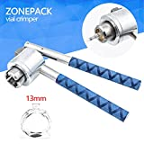 ZONEPACK Perfume Bottle Capping Machine 13mm Stainless Steel Lid Crimper Hand Sealing Machine Manual Gland Pliers Medical Crimper Handle Anti-Skid Perfume Bottle Aluminum Caps (13mm)