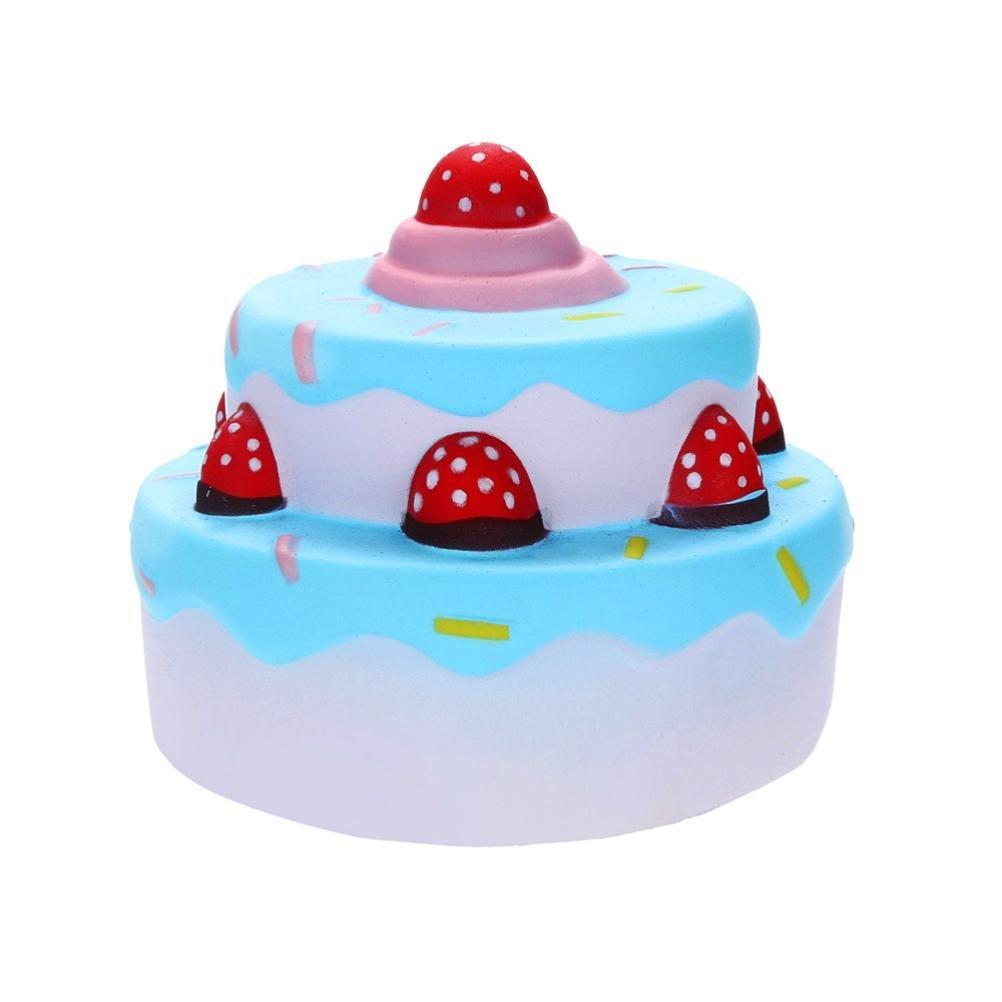 BBsmile squishys Kawaii 12cm Squishies Jumbo Pastel de Fresa Slow Rising Cream Scented Juguete para aliviar el estrés