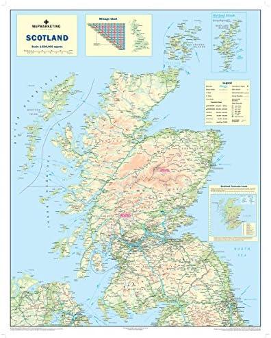 Scozia Cartina Dettagliata.Scotland Road Mappa Mappa Della Scozia Amazon It Cancelleria E Prodotti Per Ufficio
