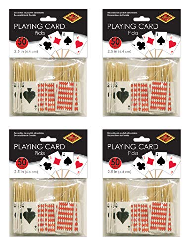 Beistle S60099AZ4 Playing Card Picks 200 Piece, 2.5
